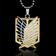 Κοσμήματα Εμπνευσμένη από Επίθεση στον Τιτάνα Eren Jager Anime Αξεσουάρ για Στολές Ηρώων Κολιέ Χρυσό / Ασημί Κράμα Ανδρικά