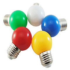 1W E27 5XSMD2835 350LM Color Ball Bubble lamp LED Light Bulbs(220V)