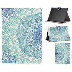 Blue and White Pattern PU Leather Full Body Case with Stand Slot for T530/T550/T800