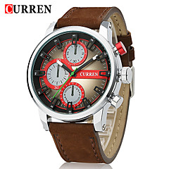CURREN® Men's Racing Style Fashion Watch Japanese Quartz Military Design Leather Strap