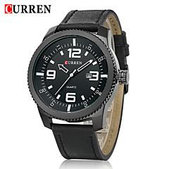 CURREN® Men's Army Design Military Watch Calendar Japanese Quartz Leather Strap