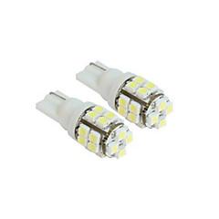 Lorcoo™ 2 x T10 20-SMD 1210 White LED Car Lights Bulb 194 168 2825 5W