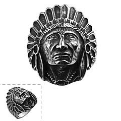generoso anel clássica não dos homens de pedra decorativos indiano crânio de aço inoxidável (preto) (1pc)