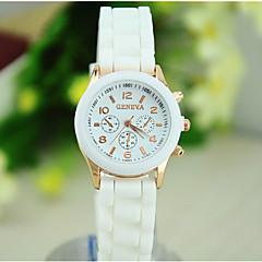 Dames Modieus horloge Silicone Band Snoep Wit / Blauw / Orange / Groen / Geel / roze Merk-