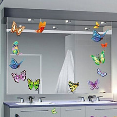 mariposa multifunción forma pvc decorativo pegatinas (9pcs / set) (color al azar)
