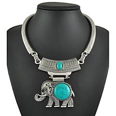 Dame Dyreformet Elefant Turkis Mode Lyseblå Smykker For Speciel Lejlighed Fødselsdag