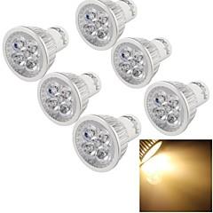 4W GU10 Żarówki punktowe LED A50 4 High Power LED 400 lm Ciepła biel Ściemniana / Dekoracyjna AC 110-130 V 6 sztuk