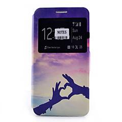 Voor Samsung Galaxy Note Kaarthouder / met standaard / met venster / Flip / Patroon hoesje Volledige behuizing hoesje Hart Zacht PU-leer