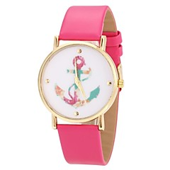 Women's Watch Anchor Pattern Golden Case Multi-Colored Dial