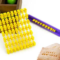 molde da letra do alfabeto número biscuit cortador de biscoitos imprensa selo bolo de relevo (26 letras + números)