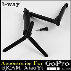 montage GoPro 3 voies trépied monopode emprise magique ultra portable pour xiaomi yi GoPro hero4 3+ 3 2 sj4000