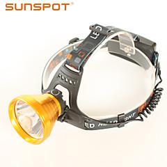 Torce frontali - LED - Campeggio/Escursionismo/Speleologia / Caccia - Impermeabili / Ricaricabile / Angolare 3 Modo 450 Lumens 18650Cree