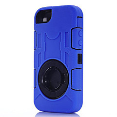 drie anti-, waterdicht, drop weerstand, stofdicht telefoon sets siliconen case beschermt voor de iPhone 5 / 5s (assorti kleur)