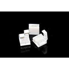 5 piezas 4-pines conector sin soldadura de 10mm 5050 solo rgb impermeable LED Franja