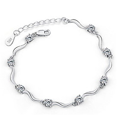 925 Sterling Silver Zircon Bracelet 1pc