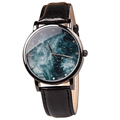 Ladies' Fashion Watch Fun Collectibles Simple Quartz Watch Leather Popular Fantasy Planet (Assorted Colors)