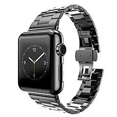 Edelstahl-Uhrenarmband für Apple-Uhrenarmband-Adapter Metallverbinder für iwatch 42mm mit Schlaufe Regler offenen Werkzeug