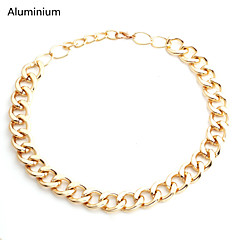 Vilam® 55~60cm,Chunky Hip Hop Aluminium Figaro Chain Torque Choker High Quality Men's Chain Necklace Uneasy Fade