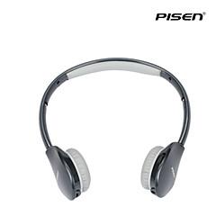 Pisen Bluetooth Headset Retractable Foldable Headband Standard 3.5mm Over-ear Headphone Black
