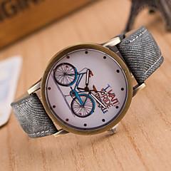 Dames Modieus horloge Vrijetijdshorloge Kwarts Leer Band Zwart Wit Blauw Rood Bruin Groen Roze Geel Bruin Rood Groen Blauw Roze
