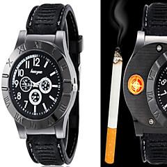 Herre Armbåndsur Unik Creative Watch Quartz PU Bånd Kreativ Sort Brun 2# 3# 4# 5# 6#