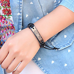 Cross Verse Alloy/Leather  Leather Bracelets Daily/Casual 1pc