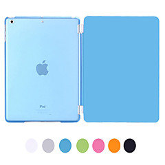 Natusun ™ Slim Smart Soft PU Leather Cover Hard gjennomsiktig plast Shell med Sleep Bracket for Ipad luft
