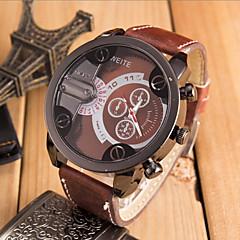 Męskie Zegarek na nadgarstek Kwarcowy Sportowy Skóra Pasmo Z Wisorkami Czarny Pomarańczowy Brązowy White Brown Czerwony Niebieski