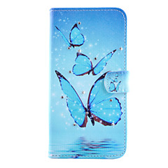 Diamond Water Butterfly Pattern PU Material Holster for Samsung Galaxy S6/S6 Edge/S6 Edge Plus/S5