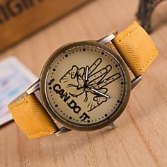 Heren / Dames / Uniseks Modieus horloge Kwarts PU Band Merk-