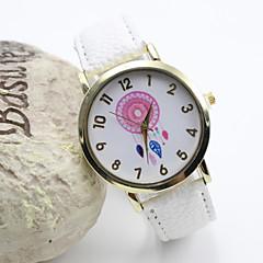 l'or de style de la mode des femmes composer PU bande de montre-bracelet à quartz analogique (couleurs assorties)