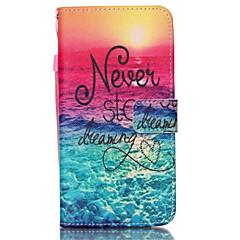 For Samsung Galaxy Note Kortholder / Pung / Med stativ / Flip Etui Heldækkende Etui Ord / sætning Kunstlæder Samsung Note 5 / Note 4