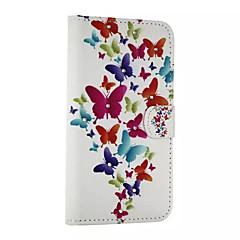 Mert Samsung Galaxy tok Kártyatartó / Strassz / Állvánnyal / Flip / Minta / Mágneses Case Teljes védelem Case Pillangó Műbőr SamsungA8 /