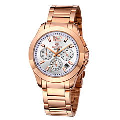 Megir® Men's Auto Date Display Silver & Rose Gold Stainless Steel Band Fashion Watches