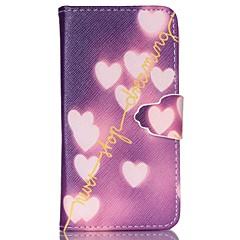 älskar mönster pu läderväska med kortplats och står för Samsung Galaxy S4 mini / s3mini / s5mini / s3 / S4 / S5 / S6 / s6edge +