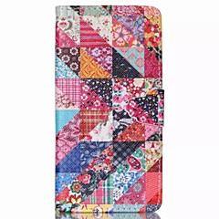 Için Huawei Kılıf / P8 Lite Cüzdan / Kart Tutucu / Satandlı / Flip Pouzdro Tam Kaplama Pouzdro Çiçek Sert PU Deri Huawei Huawei P8 Lite