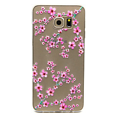Plum flower Pattern TPU Relief Back Cover Case for Galaxy S5 Mini/S5/Galaxy S6/Galaxy S6 edgePlus/Galaxy S6 edge