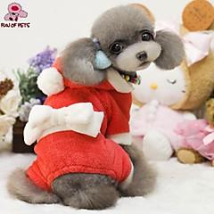 Abrigos / Saco y Capucha / Pantalones para Perros / Gatos Rojo Invierno Navidad / Año Nuevo XS / S / M / L / XL Polar Fleece