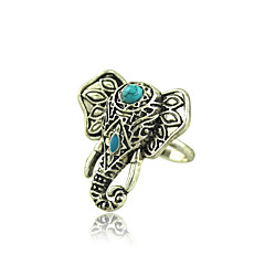Alloy / Resin Ring Vintage Elephant Statement Rings Daily 1pcs