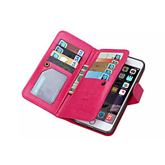 Magnetic 2 in 1 Wallet Leather+9 Card Holders+Cash Slot+Photo Frame Phone Case for Apple iPhone 6/6S