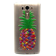 Voor LG hoesje Transparant hoesje Achterkantje hoesje Fruit Zacht TPU LG LG G3 / LG Spirit / LG C70 H422