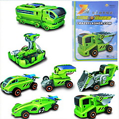 7-in-1 Solar DIY Powered 3D DIY Cars for Children (2 Power Devices and 5 Car Modules)