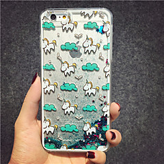 MAYCARI® The Unicorn in the Sky Glitter Sand Quicksand Star Pattern Transparent PC Back Case for iPhone 6/iphone 6s