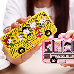 Cartoon Bus Pattern Soft Acrylic Back Cover Case for iPhone 7 7 Plus 6s 6 Plus SE 5s 5