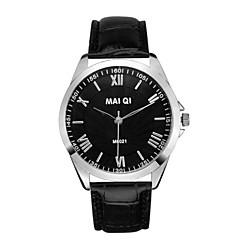 Herren Armbanduhr Quartz Leder Band Marke-