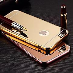 Überzug-Spiegel wieder mit Metallrahmen Telefonkasten für iphone 6plus / 6s plus (verschiedene Farben)