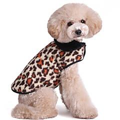 Gatos / Perros Abrigos / Camiseta / Chaleco Rojo / Blanco / Verde / Marrón / Rosado / Dorado Ropa para Perro Invierno Leopardo / camuflaje