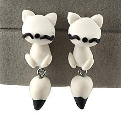 HUALUO®Creative Handmade Clay Animal Fox Earrings