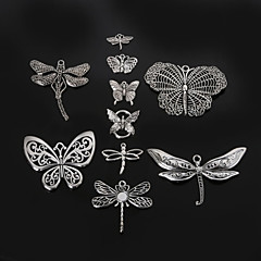 Beadia Metal Butterfly & Dragonfly Charm Pendants Antique Silver DIY Jewelry Accessories