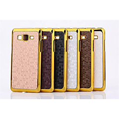 Football Grain Line Leather Metal Fdge Case Back Cover For Galaxy Grand Prime/Grand 2/Alpha/Grand Max(Assorted Color)